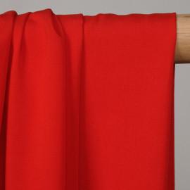 Tissu proviscose rouge poppy  - pretty mercerie - mercerie en ligne