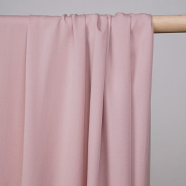 Tissu proviscose rose lotus -pretty mercerie - mercerie en ligne