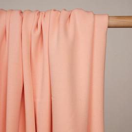 Tissu sweat gratté tropical peach - pretty mercerie - mercerie en ligne