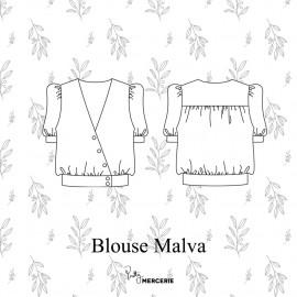 Blouse Malva - patron de couture - pretty mercerie