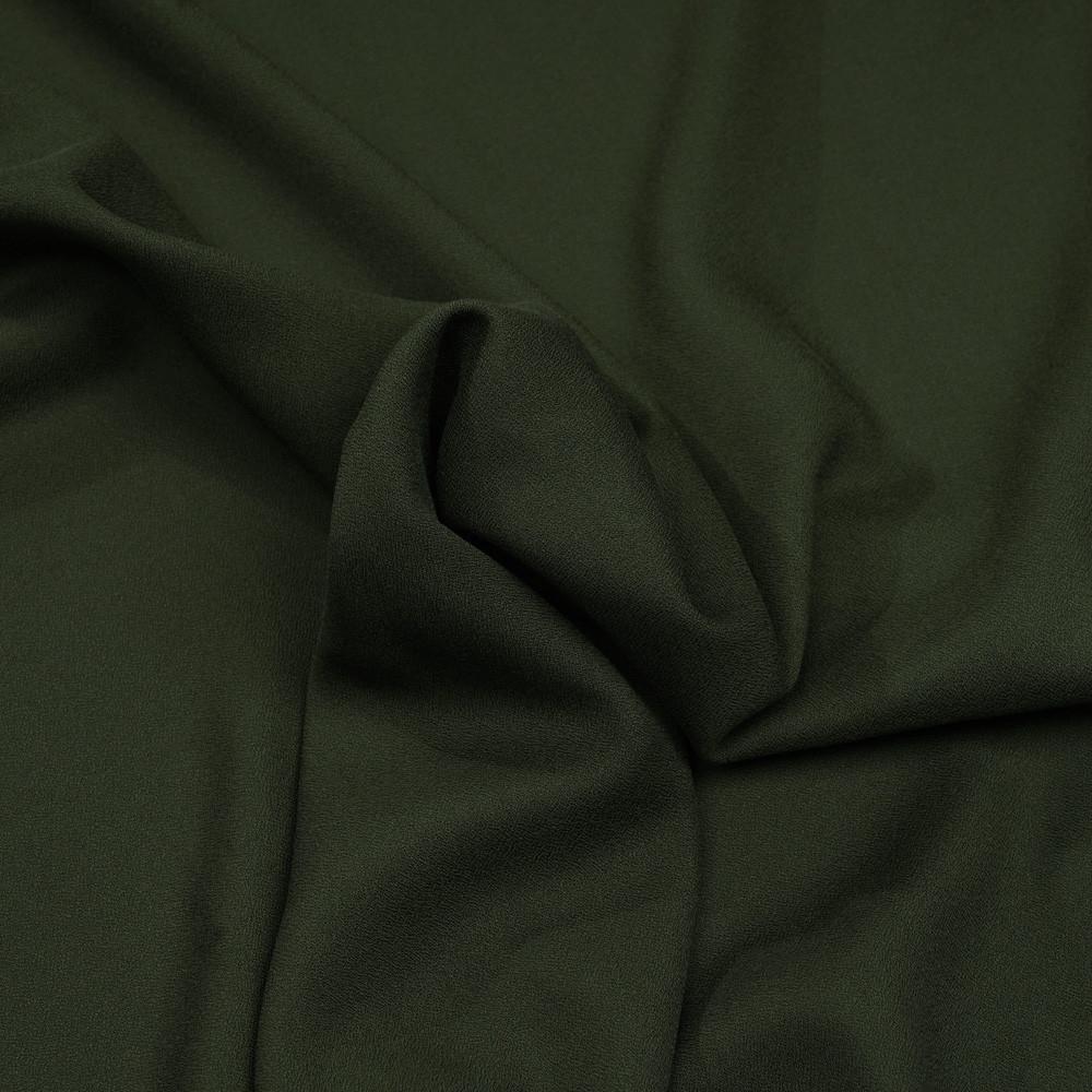 Tissu crêpe proviscose kaki foncé - Pretty Mercerie - mercerie en ligne
