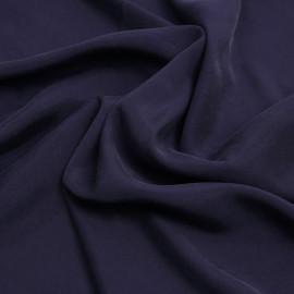 Tissu cupro et viscose bleu marine - pretty mercerie - mercerie en ligne