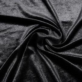 Tissu jersey velours irisé noir - mercerie en ligne - pretty mercerie