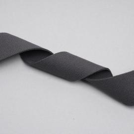 ruban élastique polyester recyclé gris tricoté   Pretty mercerie   mercerie en ligne