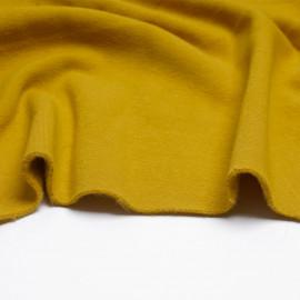 Tissu sweat gratté moutarde   Pretty Mercerie   Mercerie en ligne