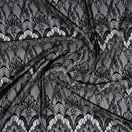 Tissu dentelle fine à motif romantique | Pretty Mercerie | mercerie en ligne