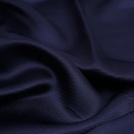 Tissu viscose jacquard bleu marine à motif tissé rayé| Pretty Mercerie | mercerie en ligne