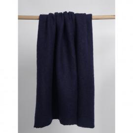 Tissu lainage maille tricoté bleu nuit   Pretty Mercerie   mercerie en ligne
