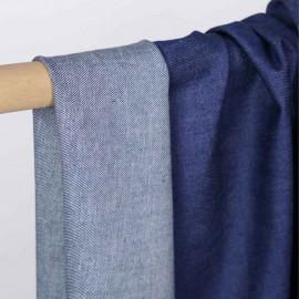 Tissu toile denim true navy | Pretty Mercerie | Mercerie en ligne