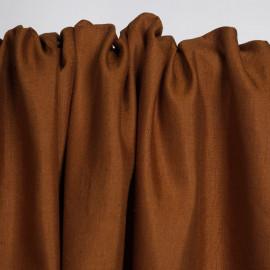Tissu lin et viscose sienna | Pretty Mercerie | mercerie en ligne