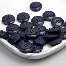 Bouton bleu marine marbré 23mm | Pretty mercerie | mercerie en ligne