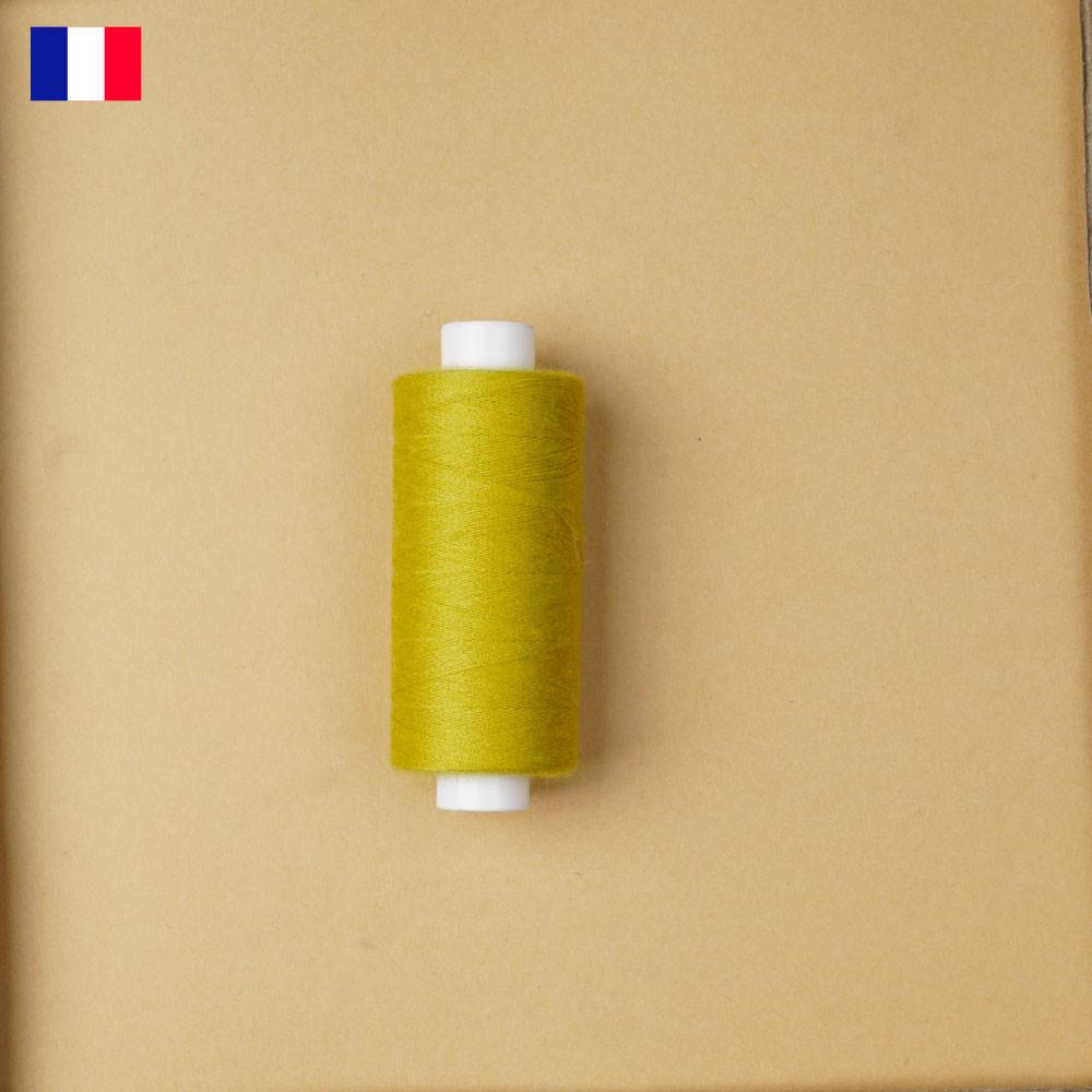 Fil à coudre vert citronnelle haute ténacité 500 m   fabrication française   pretty Mercerie   Mercerie en ligne