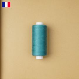 Fil à coudre bleu canard ténacité 500 m   fabrication française   pretty Mercerie   Mercerie en ligne