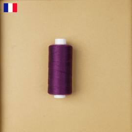 Fil à coudre aubergine ténacité 500 m | fabrication française | pretty Mercerie | Mercerie en ligne