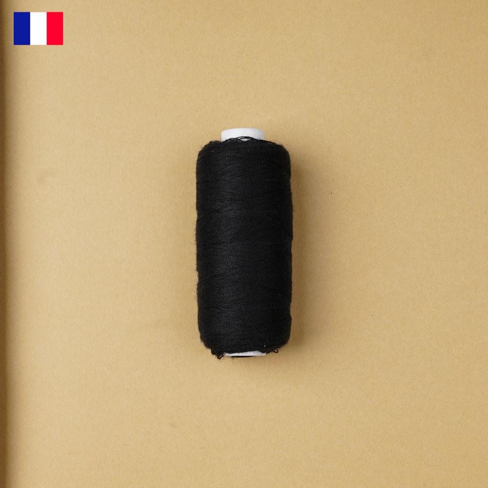 Fil à coudre noir ténacité 500 m | fabrication française | pretty Mercerie | Mercerie en ligne