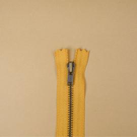 Fermeture éclair YKK non-séparable honey gold 14cm | Pretty Mercerie | Mercerie en ligne