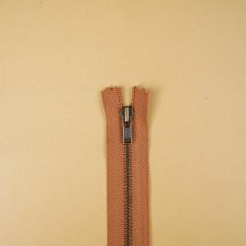 Fermeture éclair YKK non-séparable sienna 14cm | Pretty Mercerie | Mercerie en ligne