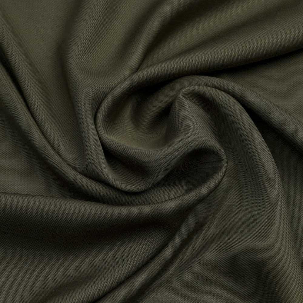 Tissu viscose Tencel et lin olive | Pretty Mercerie | Mercerie en ligne