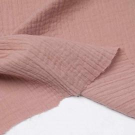 tissu double gaze de coton vieux rose Pretty Mercerie mercerie en ligne