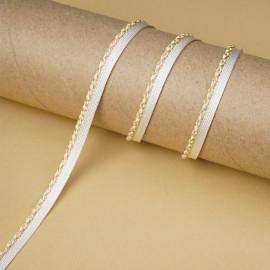 passepoil blanc cassé torsadé fils dorés   Pretty Mercerie   mercerie en ligne