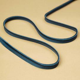 passepoil bleu canard torsadé | Pretty Mercerie | mercerie en ligne