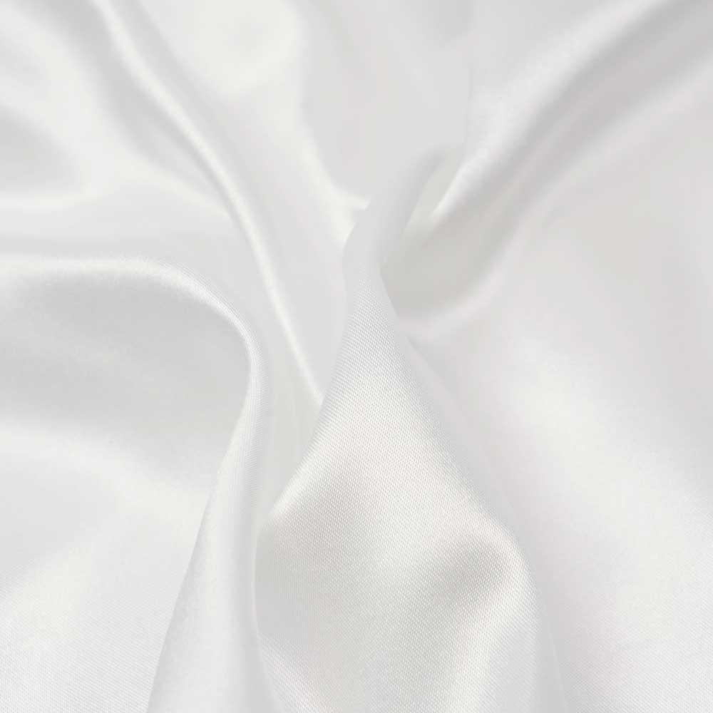 Tissu doublure satin polyester blanc cassé | pretty mercerie | mercerie en ligne
