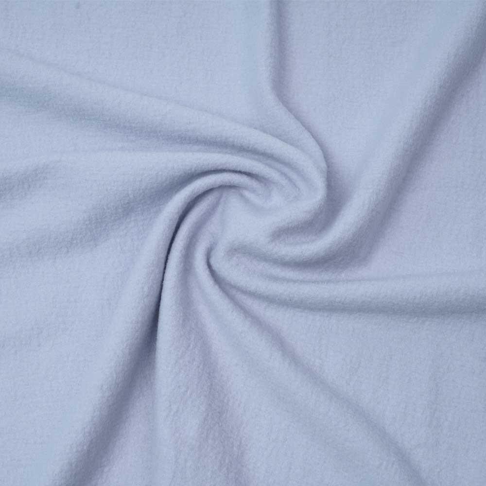 Tissu drap de laine bouillie bleu lavande | pretty mercerie | mercerie en ligne