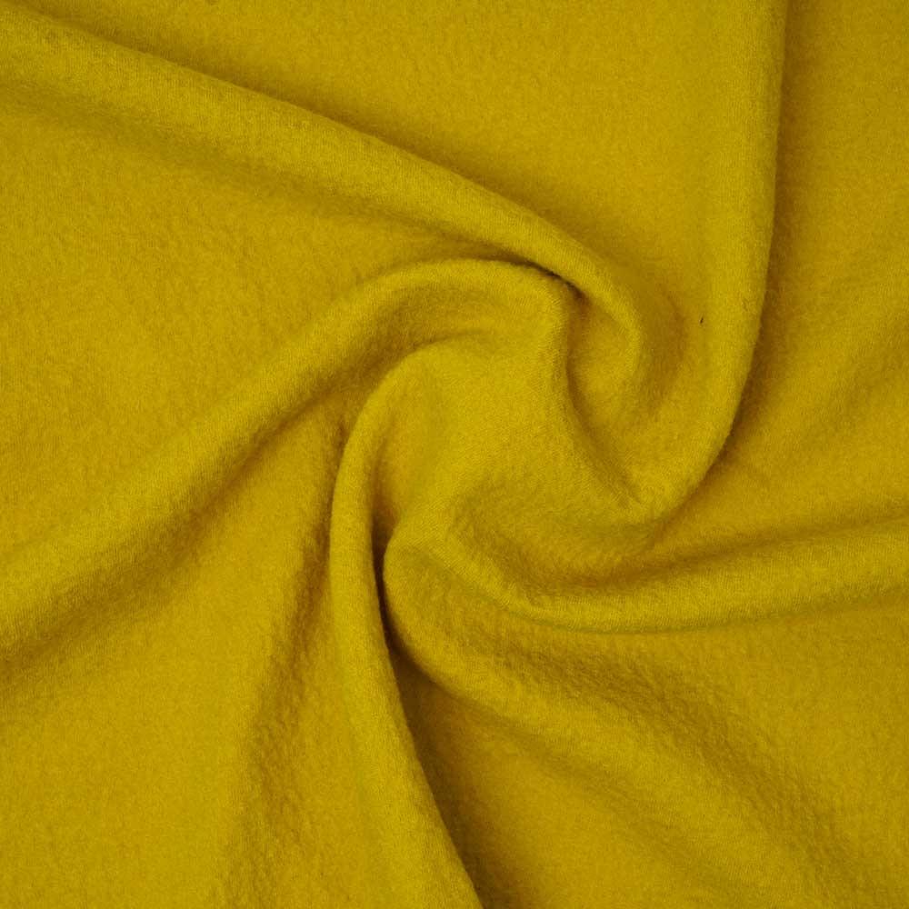Tissu drap de laine bouillie  moutarde   pretty mercerie   mercerie en ligne