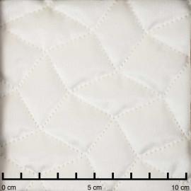 Tissu matelassé velours blanc cassé à motif graphique   pretty mercerie   mercerie en ligne