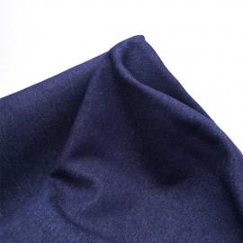 Tissu denim stretch bleu brut à doublure polaire noir   Pretty Mercerie   Mercerie en ligne