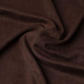 Tissu suédine chocolat | pretty mercerie | mercerie en ligne