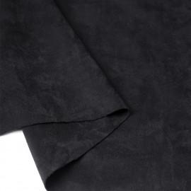 Tissu suédine noir | Pretty Mercerie | mercerie en ligne