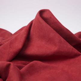 Tissu suédine cranberry | Pretty Mercerie | mercerie en ligne
