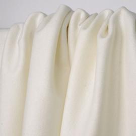 Tissu lainage léger écru tissé fil lurex argenté   Pretty Mercerie   mercerie en ligne