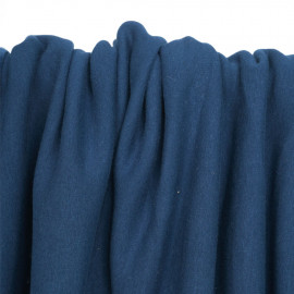 Tissu sweat gratté dark blue | Pretty Mercerie | Mercerie en ligne
