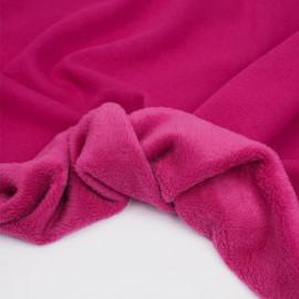 Tissu sweat gratté fuchsia | Pretty Mercerie | mercerie en ligne