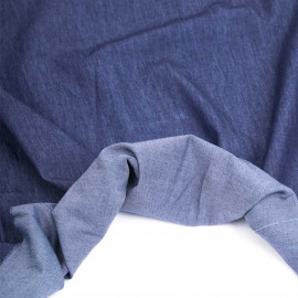 Tissu coton chambray bleu brut | Pretty Mercerie | mercerie en ligne