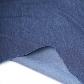 Tissu coton chambray bleu brut   Pretty Mercerie   mercerie en ligne