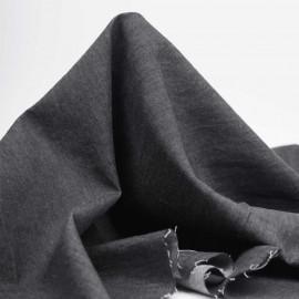 Tissu coton chambray gris foncé chiné | Pretty Mercerie | mercerie en ligne