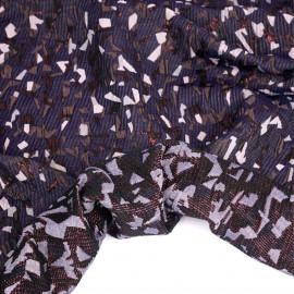 Tissu jacquard mauve à motif confettis rose et fil lurex bordeaux   pretty mercerie   mercerie en ligne