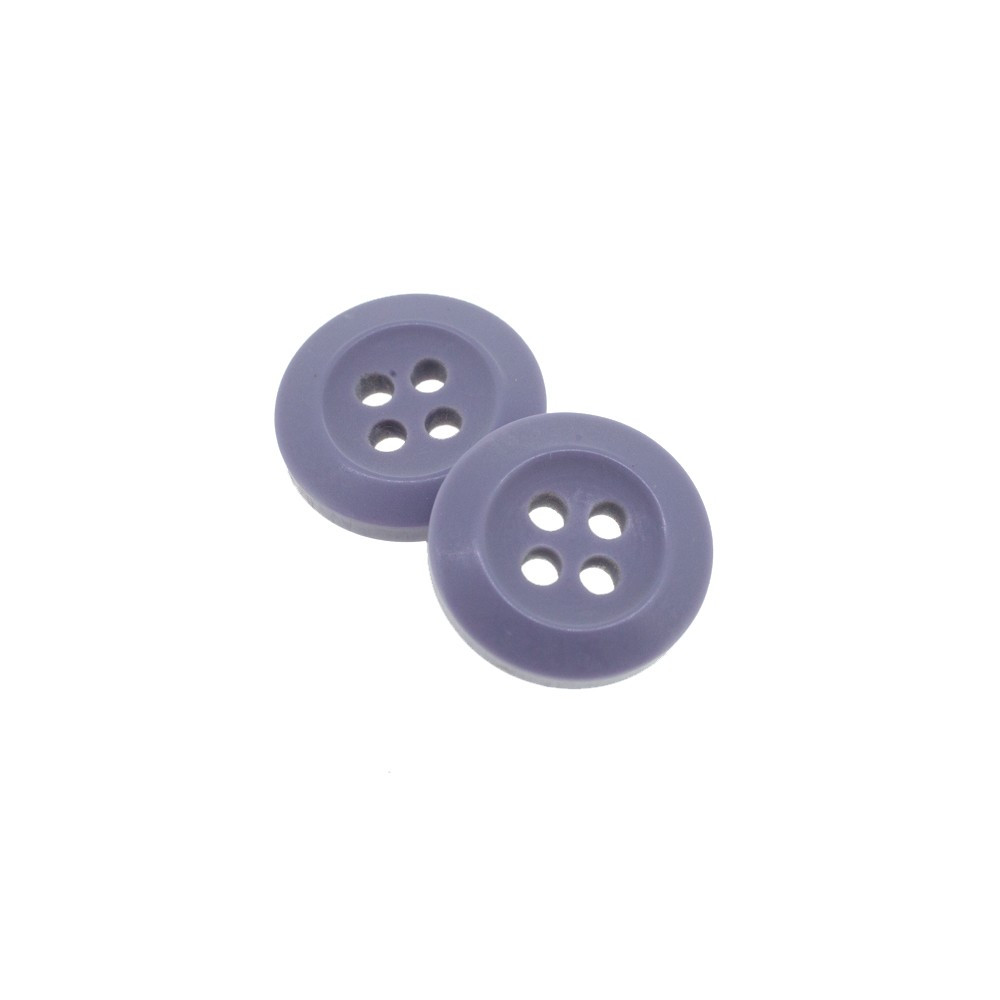 Bouton Polyester Lavande 15mm