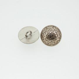 Bouton rond géométrique or