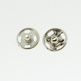 Boutons pressions nickelé 7 mm