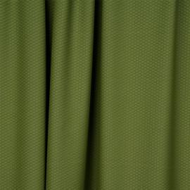 Tissu maillot de bain effet nid d'abeilles pesto - pretty mercerie - mercerie en ligne