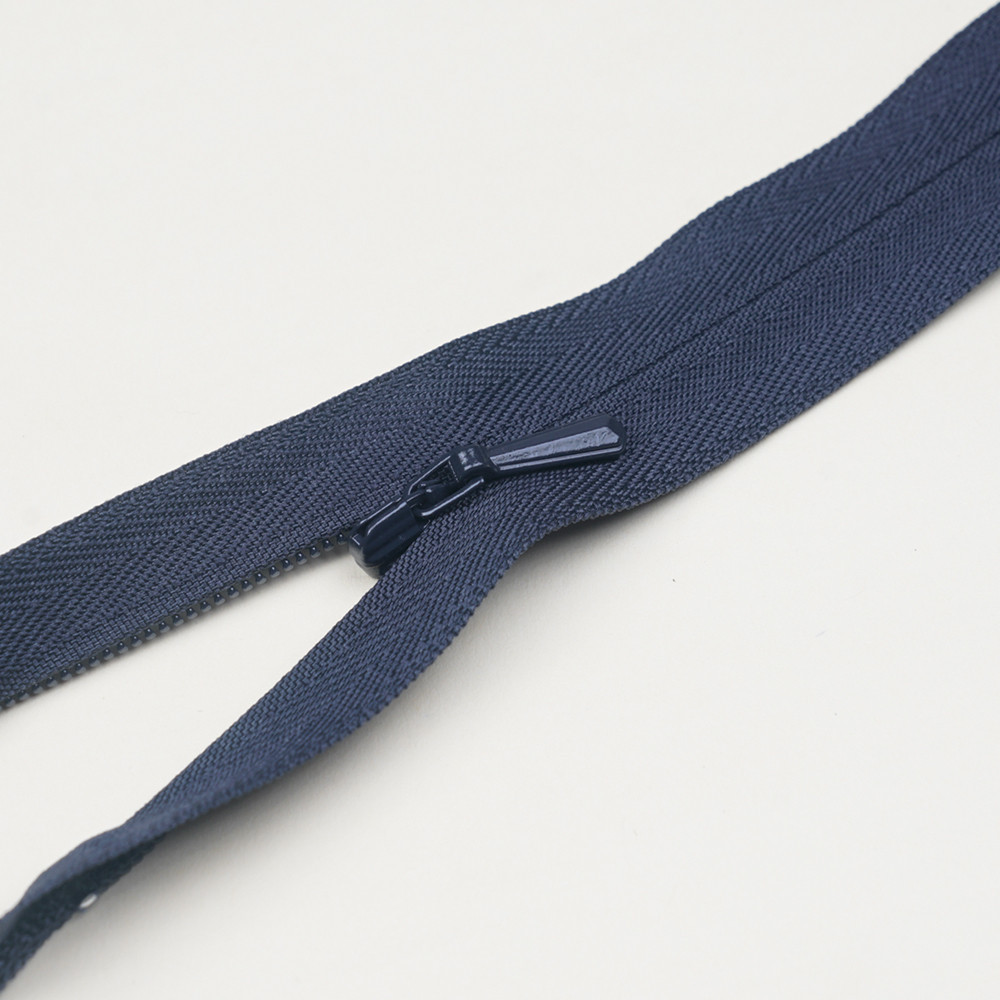 Fermeture éclair invisible non-séparable bleu nuit 25 cm  - pretty mercerie - mercerie en ligne